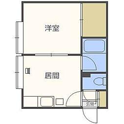 第30森宅建マンション[2階]の間取り
