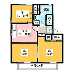 リバティKAZUII A[1階]の間取り