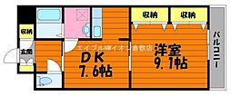 岡山県倉敷市川入の賃貸マンションの間取り