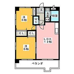 DWELL梅森坂II[2階]の間取り