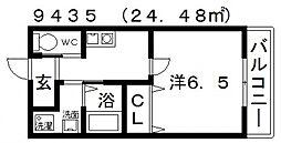 ヒルハイツ高鷲[103号室号室]の間取り