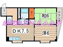 サンモール金子ビル[3階]の間取り