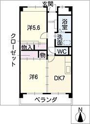 マンションファーストミュー[4階]の間取り