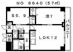 JINEVER(ジンエヴァー)上本町[10階]の間取り