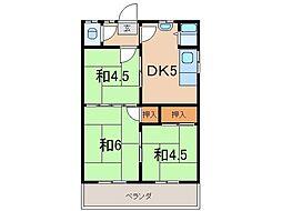 花井アパートA[202号室]の間取り