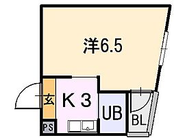 大阪府東大阪市小若江2丁目の賃貸マンションの間取り