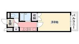 オキサ甲子園口[203号室]の間取り