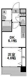 エステムコート難波IIIラグース[12階]の間取り
