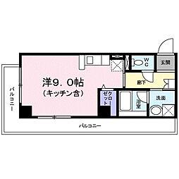 神奈川県厚木市中町2丁目の賃貸マンションの間取り