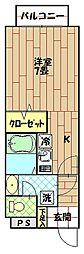 エクセルハイムII[307号室]の間取り