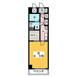 パークサイド神宮西[2階]の間取り