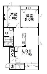 フォンテーヌN41[1階]の間取り