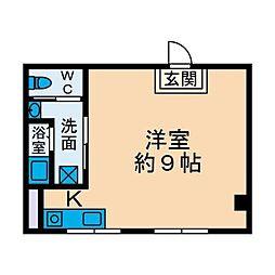 フラワービル[2階]の間取り
