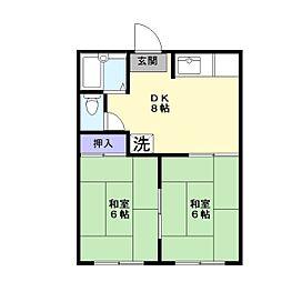 島根県松江市法吉町の賃貸アパートの間取り