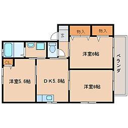 静岡県静岡市清水区押切の賃貸アパートの間取り