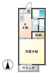ユニティメイワ[2階]の間取り