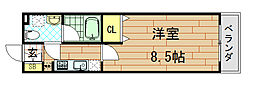 Ritz若江北[3階]の間取り