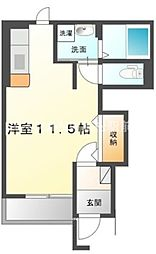 香川県高松市鹿角町の賃貸アパートの間取り