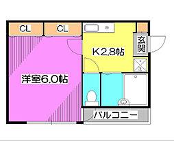 ビックアップル[1階]の間取り