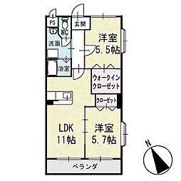 アビタシオンB 1階[101号室]の間取り