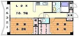ボーフェンドゥリー[4階]の間取り