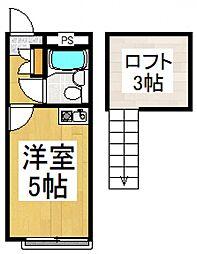 スカイピア志木[1階]の間取り