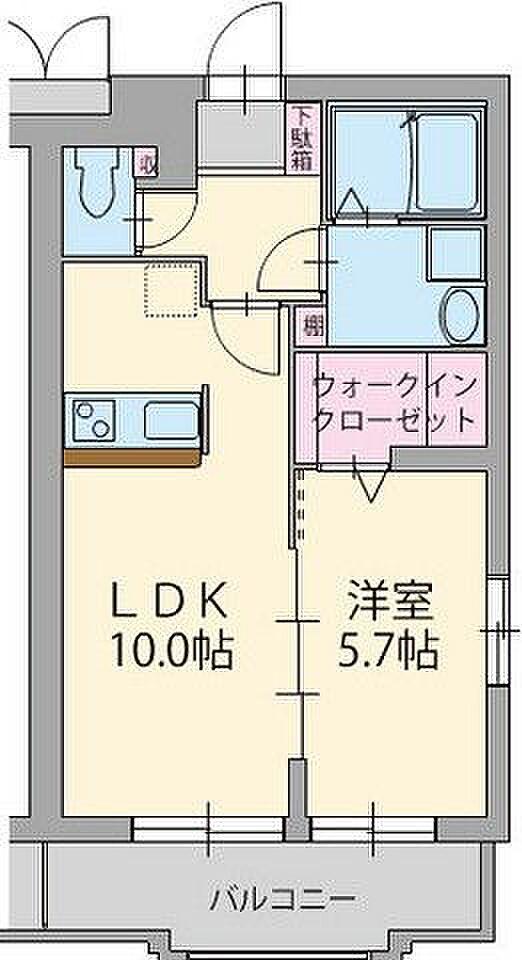 間取り(☆新婚さんオススメ1LDK!設備・収納充実☆)