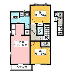 パインツリー6[2階]の間取り