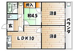 石川ハイツI[2階]の間取り