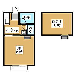 うらしまハイツ 新田[2階]の間取り