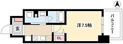 パークアクシス名古屋山王橋 9階1Kの間取り