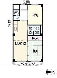 サンライズ清香II[2階]の間取り