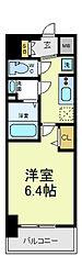 近鉄南大阪線 河堀口駅 徒歩2分の賃貸マンション 3階1Kの間取り