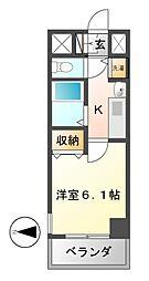 プレサンス泉セレグレード[6階]の間取り