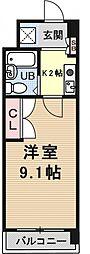 サンクリエートハヤシ壹號舘[1209号室号室]の間取り
