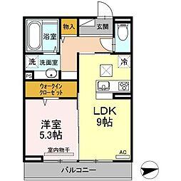 (仮)D-room西原駅前[103号室]の間取り