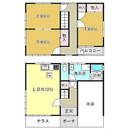 [一戸建] 奈良県大和高田市東中2丁目 の賃貸【/】の間取り