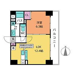 愛知県名古屋市中川区西日置2丁目の賃貸マンションの間取り