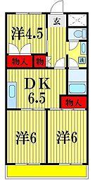 エトワール五香[2階]の間取り