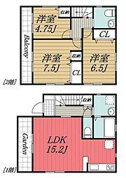 [一戸建] 千葉県佐倉市生谷 の賃貸【/】の間取り