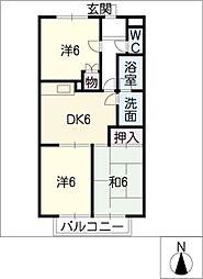 エスポワール羽島[1階]の間取り
