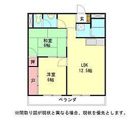 愛知県岩倉市曽野町下街道の賃貸マンションの間取り