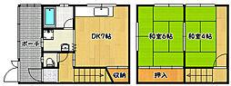 [一戸建] 兵庫県神戸市兵庫区五宮町 の賃貸【/】の間取り