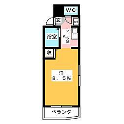 高崎中央マンション[5階]の間取り