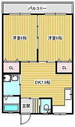 新住之江マンション[302号室]の間取り