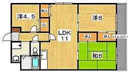 リバティーコート[2階]の間取り
