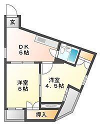 ナビオ覚王山[3階]の間取り