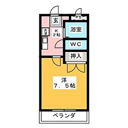 VINGT−CINQ−COURT[1階]の間取り