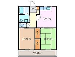 ミノヤトレゾール B[1階]の間取り