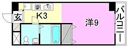 カローラ樽味[205 号室号室]の間取り